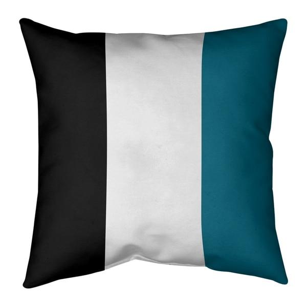Jacksonville Jacksonville Throwback Football Stripes Pillow-Spun Polyester