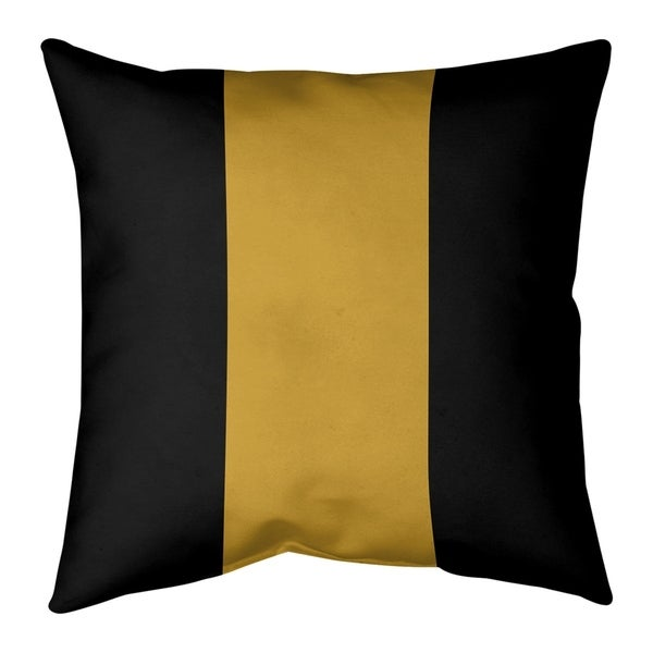 Jacksonville Jacksonville Throwback Football Stripes Pillow (w/Rmv Insert)-Spun Poly
