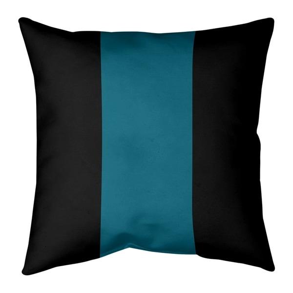 Jacksonville Jacksonville Throwback Football Stripes Pillow-Cotton Twill