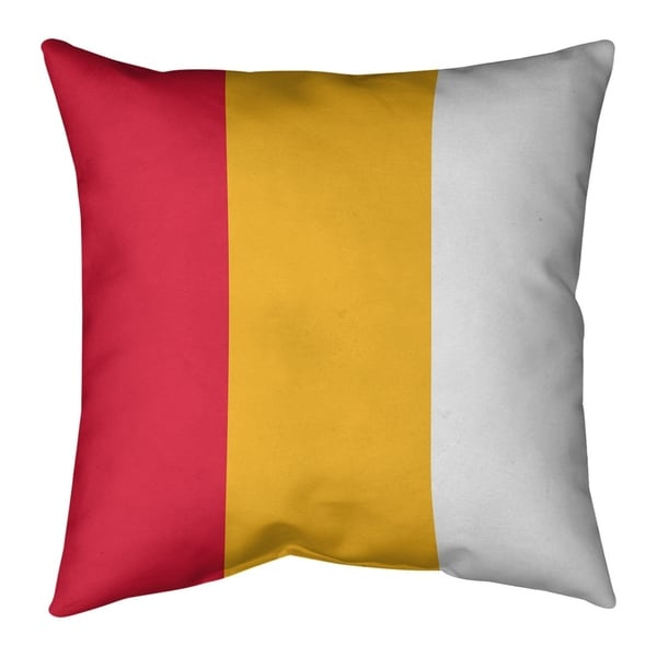 Kansas City Kansas City Football Stripes Pillow (Indoor/Outdoor)