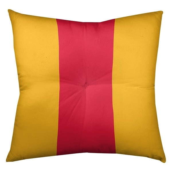 Kansas City Kansas City Football Stripes Floor Pillow - Square Tufted