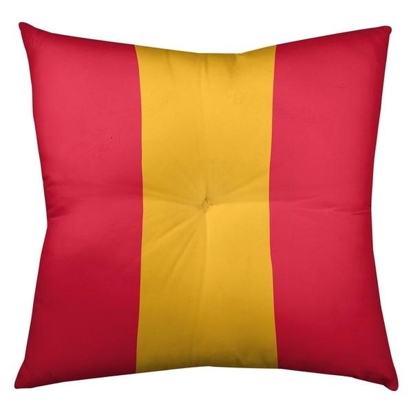 Kansas City Kansas City Football Stripes Floor Pillow - Square Tufted