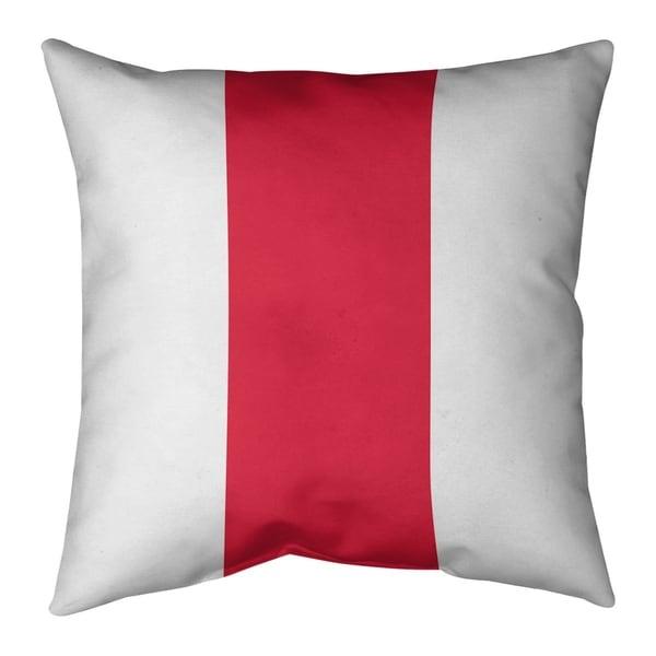 Kansas City Kansas City Football Stripes Pillow-Faux Suede