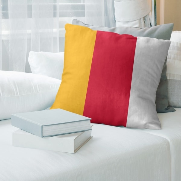Kansas City Kansas City Football Stripes Pillow-Faux Linen