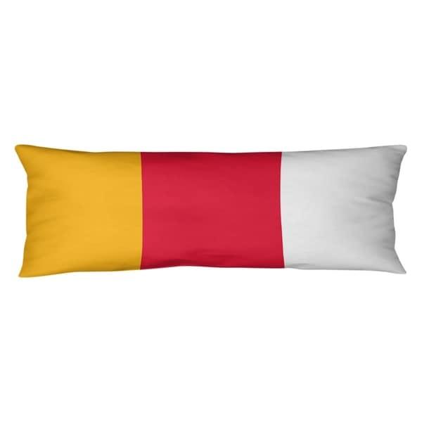 Kansas City Kansas City Football Stripes Body Pillow (w/Rmv Insert)