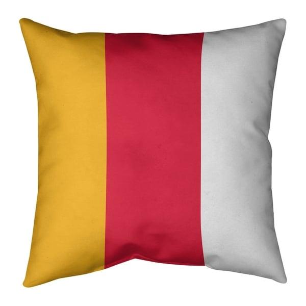 Kansas City Kansas City Football Stripes Pillow-Cotton Twill