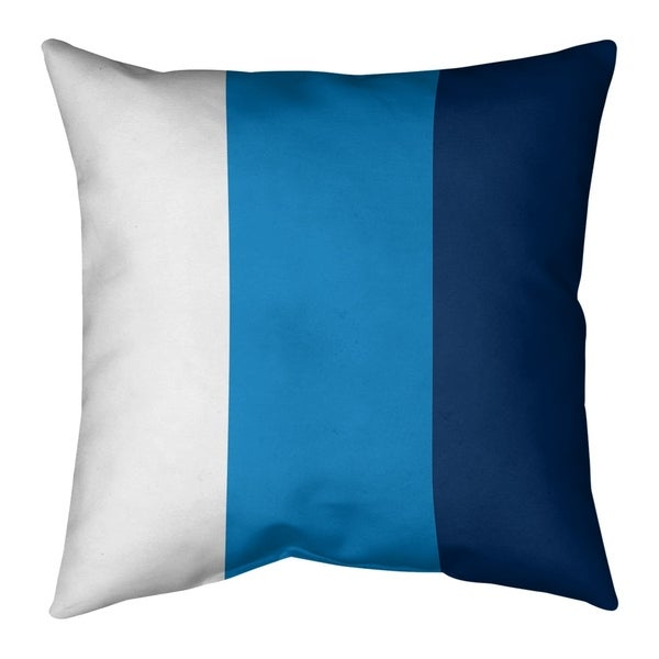 Los Angeles LA Power Football Stripes Pillow-Cotton Twill