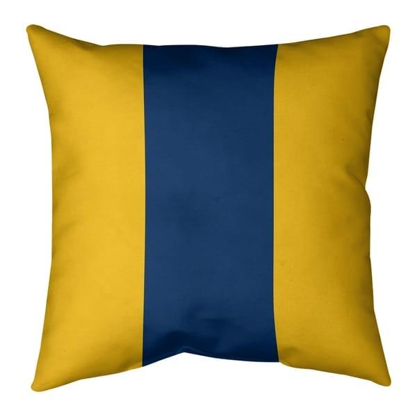 Los Angeles LA Power Football Stripes Pillow (w/Rmv Insert)-Spun Poly