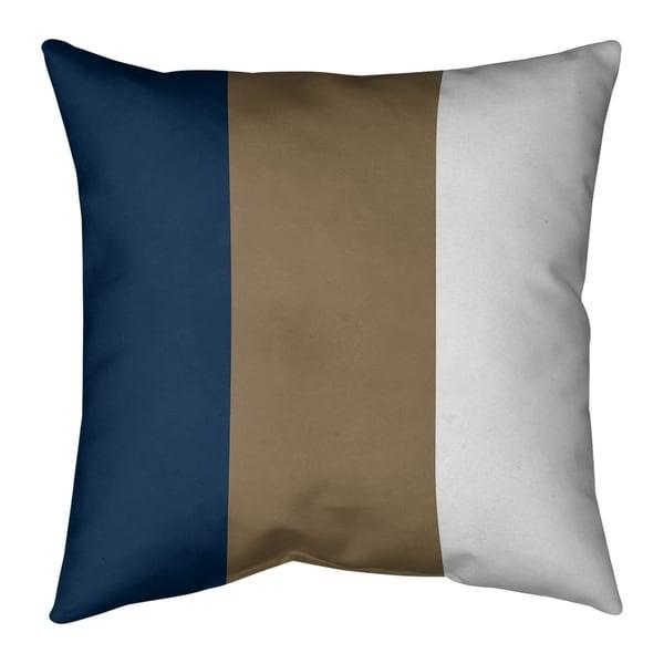 Los Angeles LA Horns Football Stripes Pillow-Cotton Twill