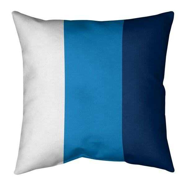 Los Angeles LA Power Football Stripes Pillow-Faux Linen