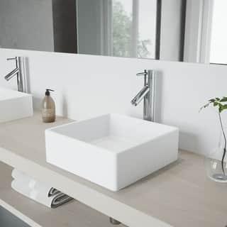 VIGO Dior Chrome Solid Brass Vessel Bathroom Faucet