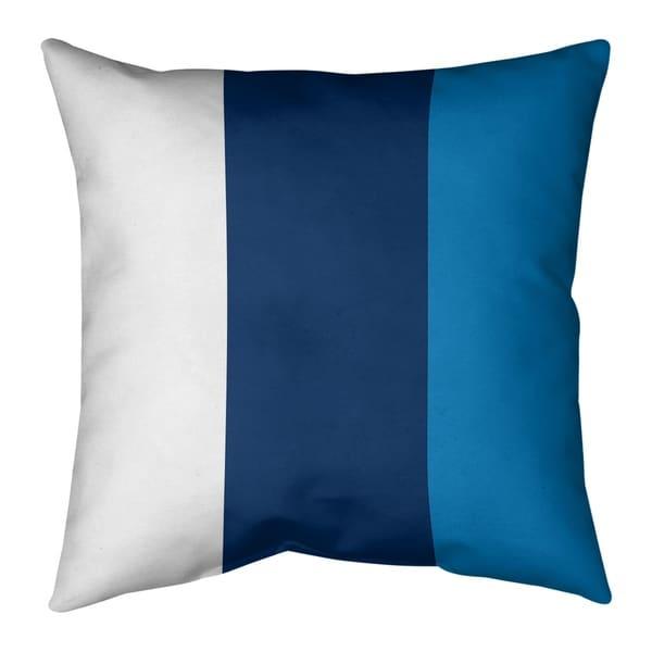 Los Angeles LA Power Football Stripes Pillow-Faux Suede