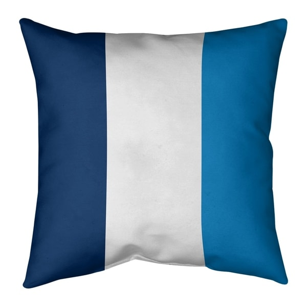 Los Angeles LA Power Football Stripes Pillow-Faux Linen