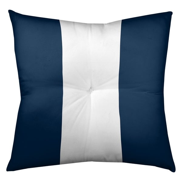 Los Angeles LA Horns Football Stripes Floor Pillow - Square Tufted