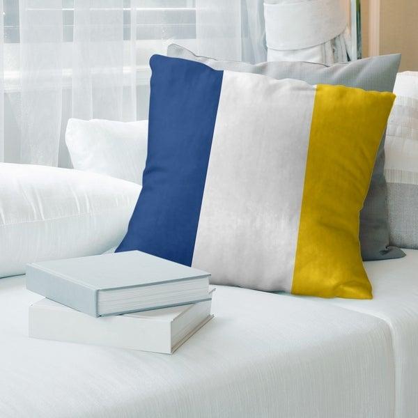 Los Angeles LA Horns Throwback Football Stripes Floor Pillow - Standard