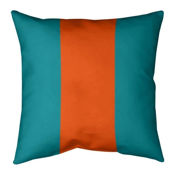 Miami Miami Football Stripes Pillow-Faux Linen