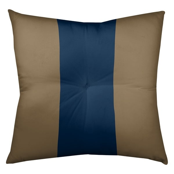 Los Angeles LA Horns Football Stripes Floor Pillow - Square Tufted