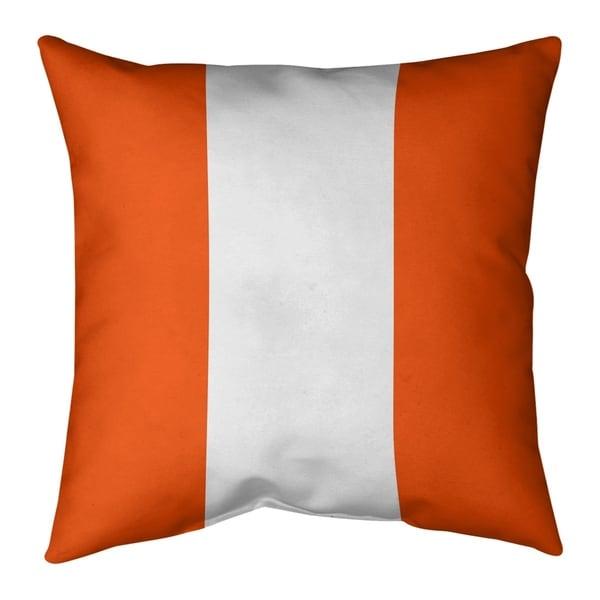Miami Miami Football Stripes Pillow-Faux Suede