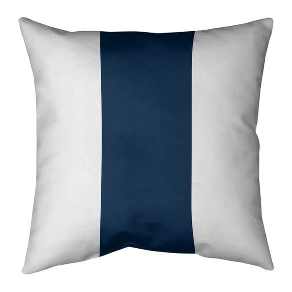 Los Angeles LA Horns Football Stripes Pillow (w/Rmv Insert)-Spun Poly