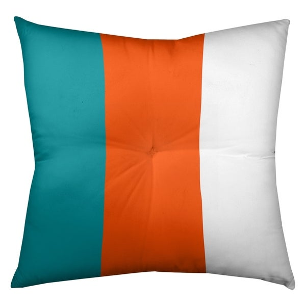 Miami Miami Football Stripes Floor Pillow - Square Tufted