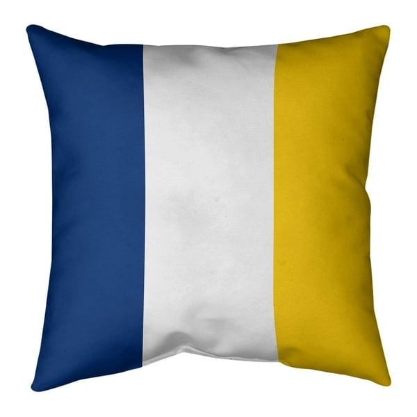 Los Angeles LA Horns Throwback Football Stripes Pillow-Spun Polyester