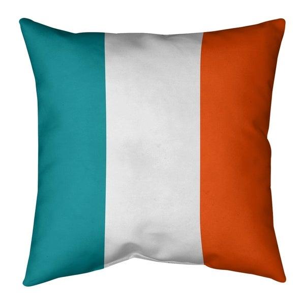 Miami Miami Football Stripes Pillow-Spun Polyester