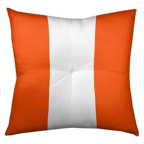 Miami Miami Football Stripes Floor Pillow - Square Tufted