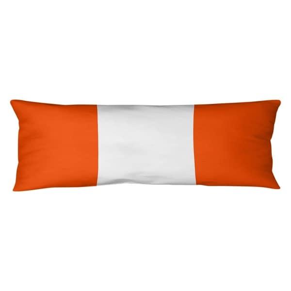 Miami Miami Football Stripes Body Pillow (w/Rmv Insert)