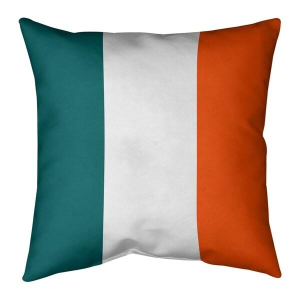 Miami Miami Throwback Football Stripes Pillow-Faux Suede