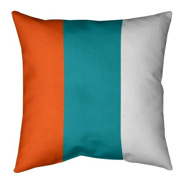 Miami Miami Football Stripes Pillow (w/Rmv Insert)-Spun Poly