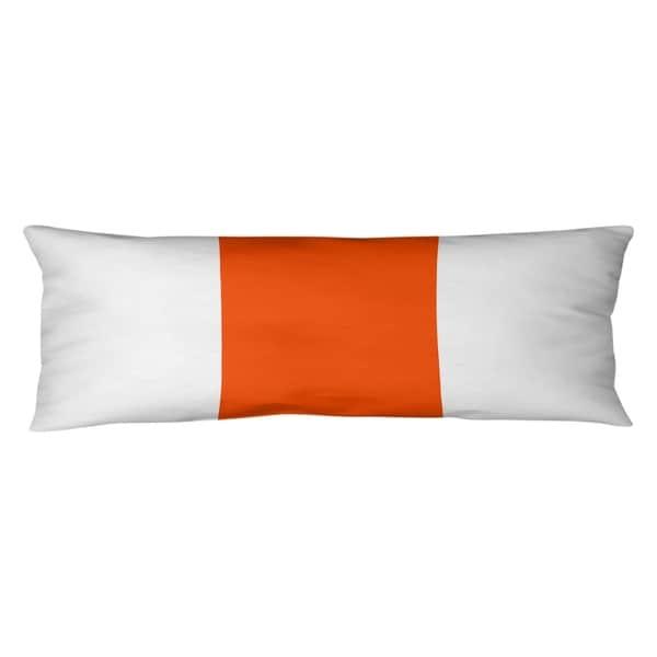 Miami Miami Throwback Football Stripes Body Pillow (w/Rmv Insert)