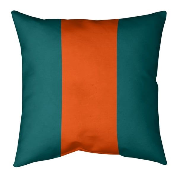 Miami Miami Throwback Football Stripes Pillow-Faux Linen
