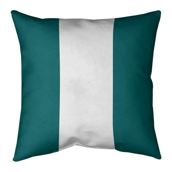 Miami Miami Throwback Football Stripes Pillow-Spun Polyester