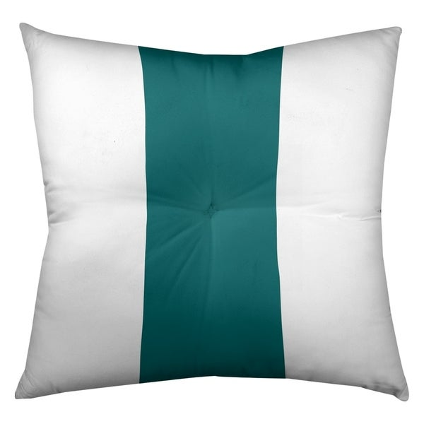Miami Miami Throwback Football Stripes Floor Pillow - Square Tufted