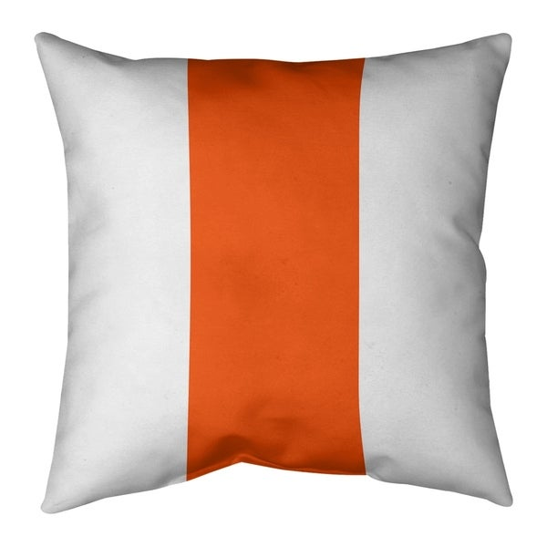 Miami Miami Throwback Football Stripes Pillow-Cotton Twill