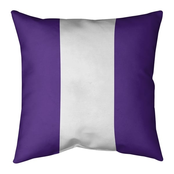 Minnesota Minnesota Football Stripes Pillow (w/Rmv Insert)-Spun Poly