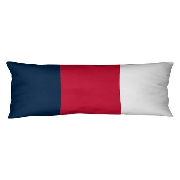 New England New England Football Stripes Body Pillow (w/Rmv Insert)