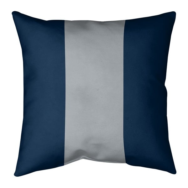 New England New England Football Stripes Pillow (w/Rmv Insert)-Spun Poly