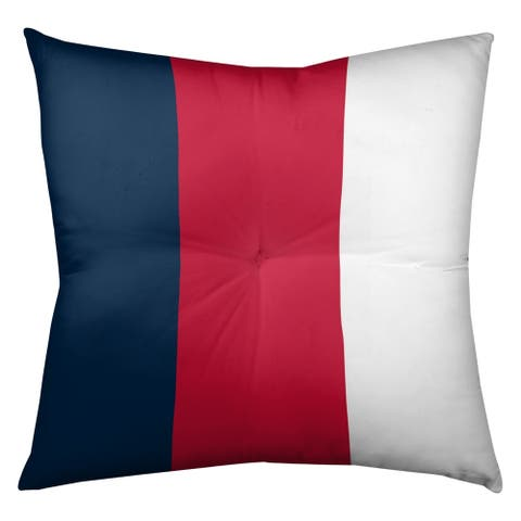New England New England Football Stripes Floor Pillow - Square Tufted