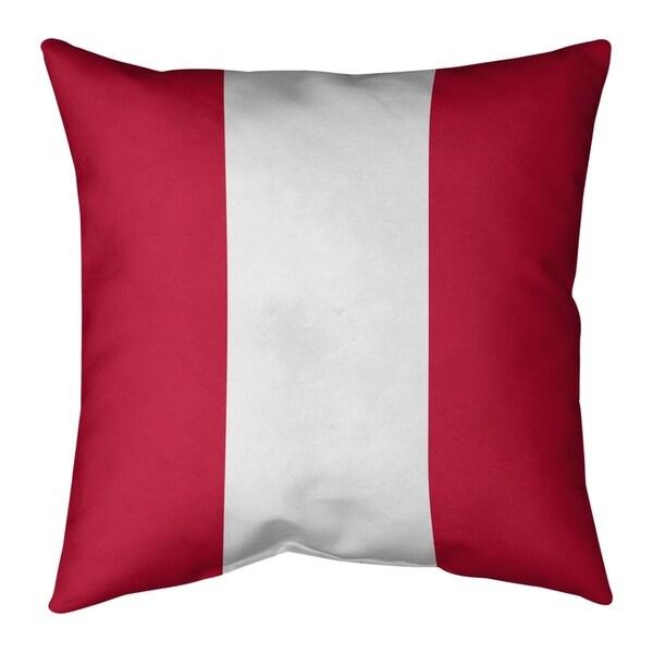 New England New England Football Stripes Pillow-Faux Linen