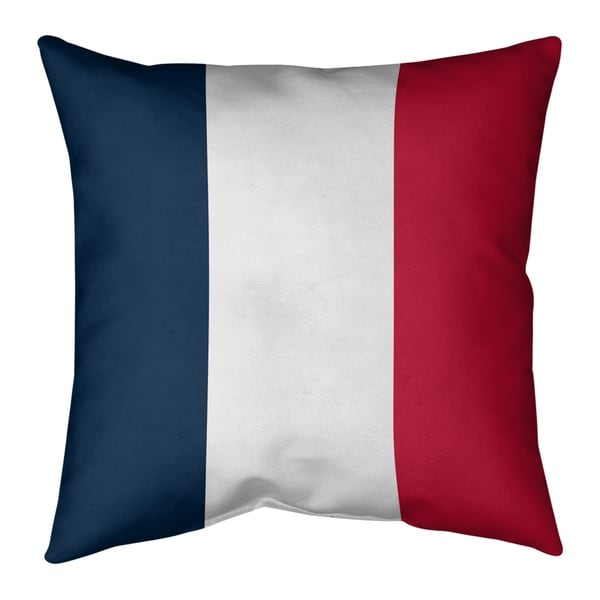 New England New England Football Stripes Pillow-Faux Linen