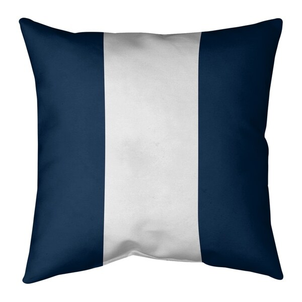 New England New England Football Stripes Pillow (Indoor/Outdoor)