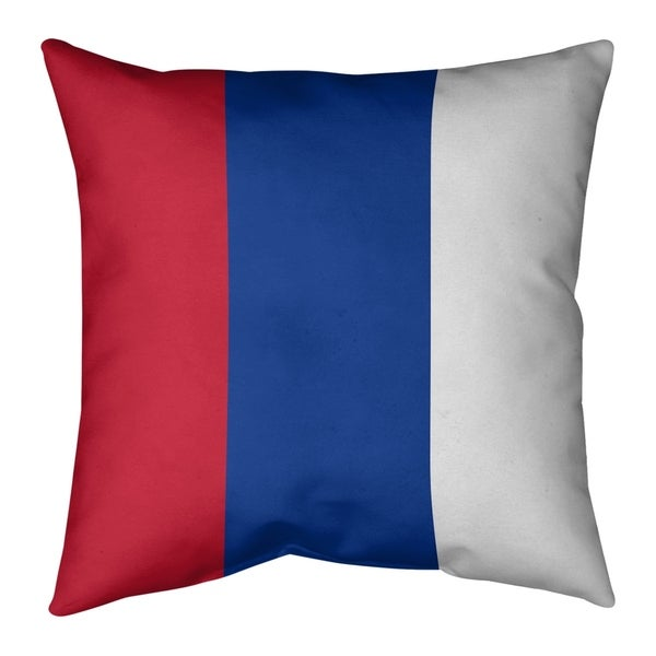 New England New England Throwback Football Stripes Pillow (w/Rmv Insert)-Spun Poly