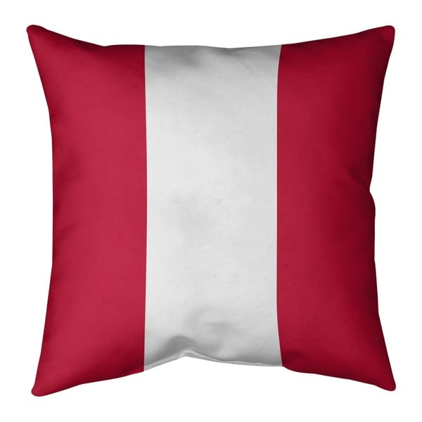 New England New England Football Stripes Pillow (w/Rmv Insert)-Spun Poly