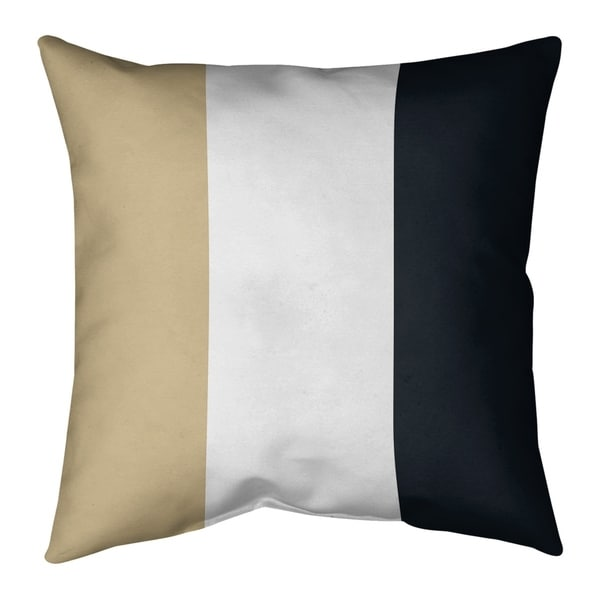 New Orleans New Orleans Football Stripes Pillow (Indoor/Outdoor)