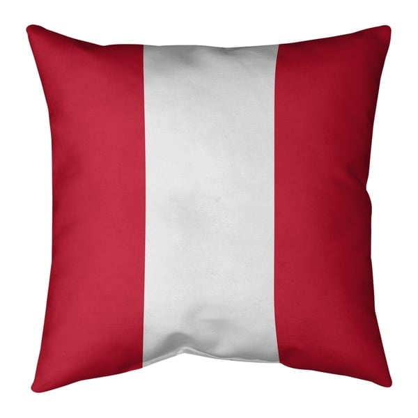 New England New England Throwback Football Stripes Pillow-Faux Linen