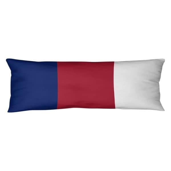 New York New York Big Football Stripes Body Pillow (w/Rmv Insert)