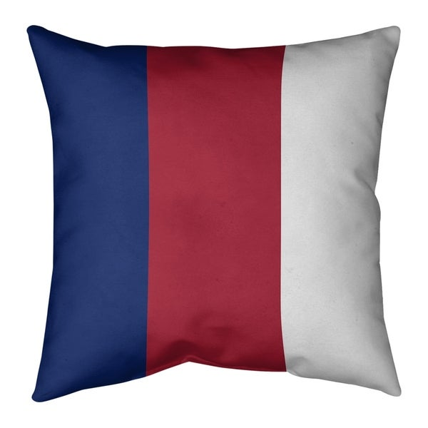 New York New York Big Football Stripes Pillow-Faux Linen