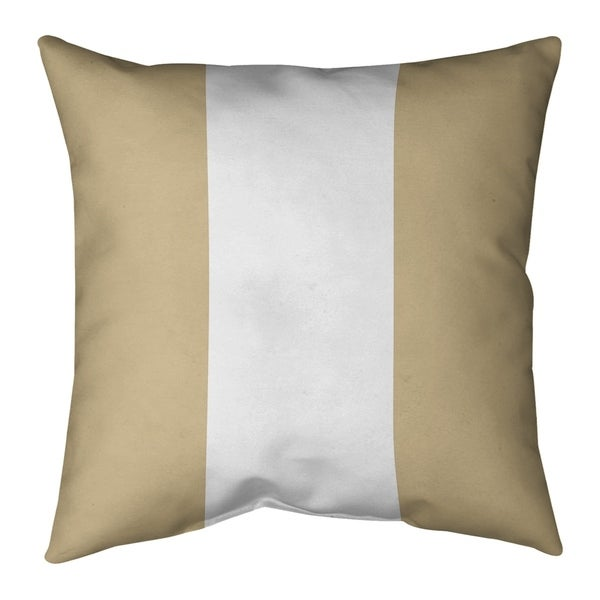 New Orleans New Orleans Football Stripes Pillow-Faux Suede