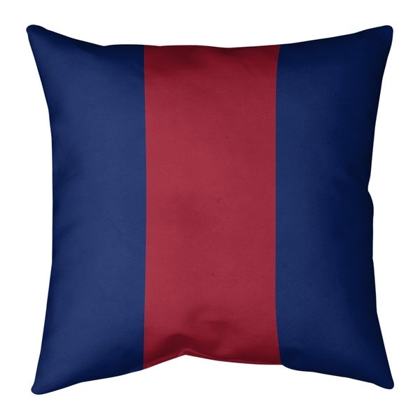 New York New York Big Football Stripes Pillow-Cotton Twill